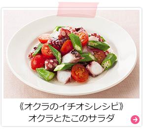 《オクラのイチオシレシピ》オクラとたこのサラダ