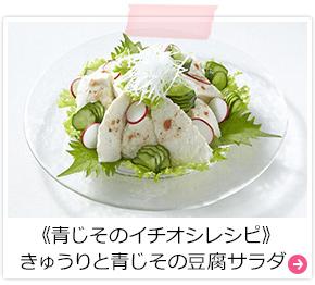 《青じそのイチオシレシピ》きゅうりと青じその豆腐サラダ