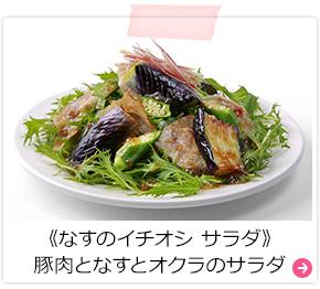《なすのイチオシ サラダ》豚肉となすとオクラのサラダ