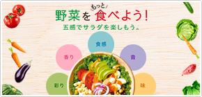味、彩り、食感、香り、音。五感でたのしむサラダはいかが?