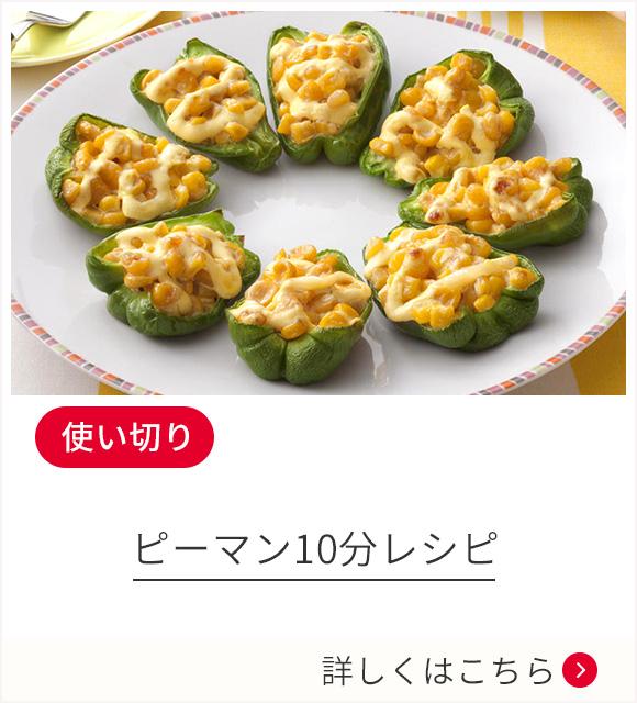 【使い切り】ピーマン10分レシピ